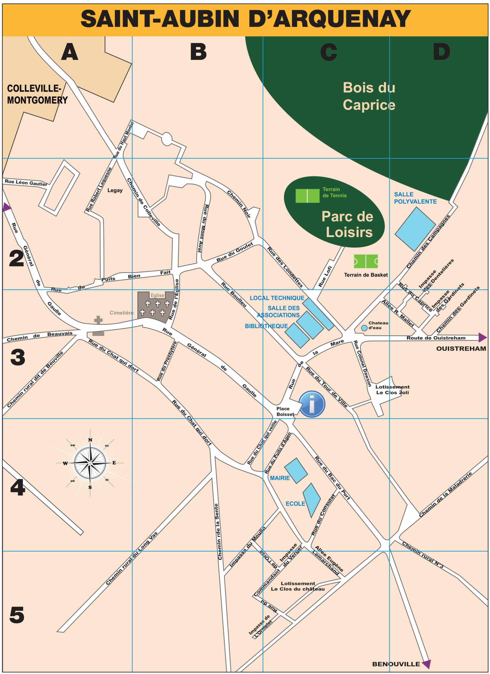 Plan de Saint Aubin d'Arquenay