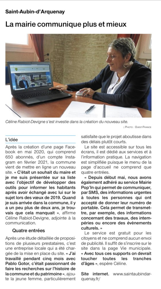 Article Ouest France 27-05-2021